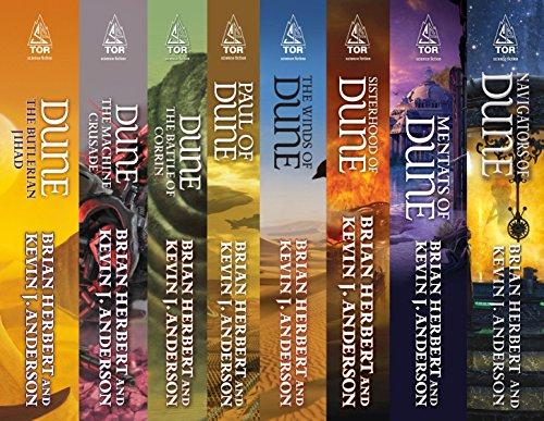 Dune: Legends, Heroes, Schools: (The Butlerian Jihad, The Machine Crusade, The Battle of Corrin, Paul of Dune, The Winds of Dune, Sisterhood of Dune, Mentats ... Dune, Navigators of Dune) (English Edition)