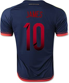 adidas James #10 Colombia Away Soccer Jersey 2015