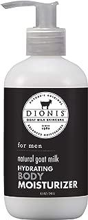 Dionis Natural Goat Milk for Men Hydrating Body Moisturizer - 8.5 oz