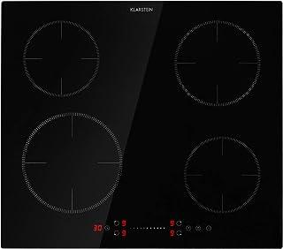 KLARSTEIN Virtuosa EcoAdapt - plaque à induction intégrée, 4 plaques pour 7200 W max, 9 niveaux de puissance, écran tactil...