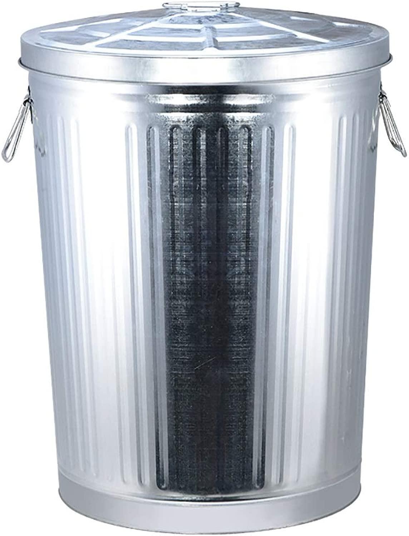 家庭用工業用水貯蔵容器軽量屋外ゴミ箱を厚くするふた鉄バケツ付きバケツ (Size : 75l)