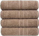 PH Pleasant Home - Juego de toallas de baño (4 unidades, 70 x 140 cm, 100% algodón, 550 g/m²,...
