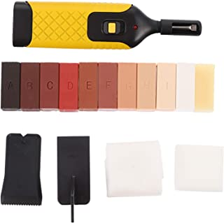 YARNOW 16 PCS Laminate Floor Repair Kit |11-Color Wax Wood Surface Scratch Repair for Chips Scratches