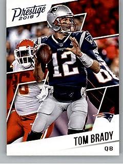 2018 Prestige NFL  75 Tom Brady New England Patriots Panini Football Card c041d4d09