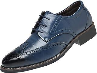 96d146c891 Soldes Homme Chaussures Richelieu Fauve Large en Cuir,Overdose Mode  Mocassins à Lacets Elégance Mariage