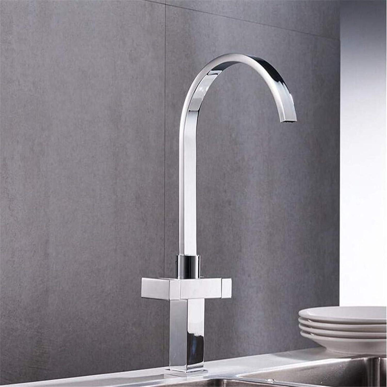 Warmes und kaltes Wasser Messing Chrom Küche Spüle Wasserhahn Wasserhahn Deck Mit Heien Und Kalten Wasserhahn Spüle Wasserhahn