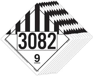 3082 Placard, Class 9 Miscellaneous 25-pk. - 10.75