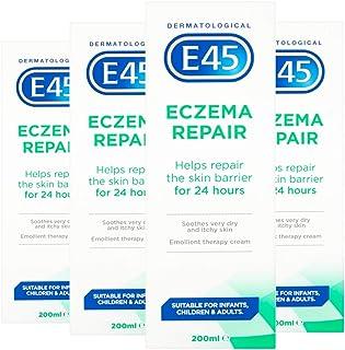 E45 Eczema Repair Emoilent Cream 200ML (Pack of 4