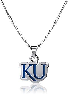 Sterling Silver Jewelry Small for Women//Girls Jayhawks KU Logo Enamel Dayna Designs University of Kansas Dangle Earrings