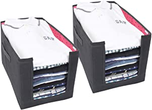 PrettyKrafts Shirt Stacker Closet Organizer - Shirts and Clothing Organizer - (Set of 2) - Pink