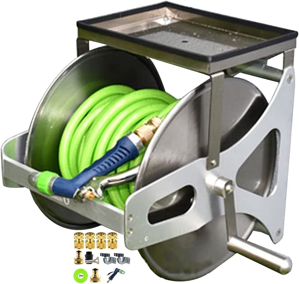 ZYCSKTL Garden Hose Reel with Wall-Mounted Cart w Soldering Year-end annual account