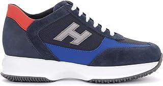 Hogan Sneaker New Interactive in Camoscio E Tessuto Blu, Taglia UK:
