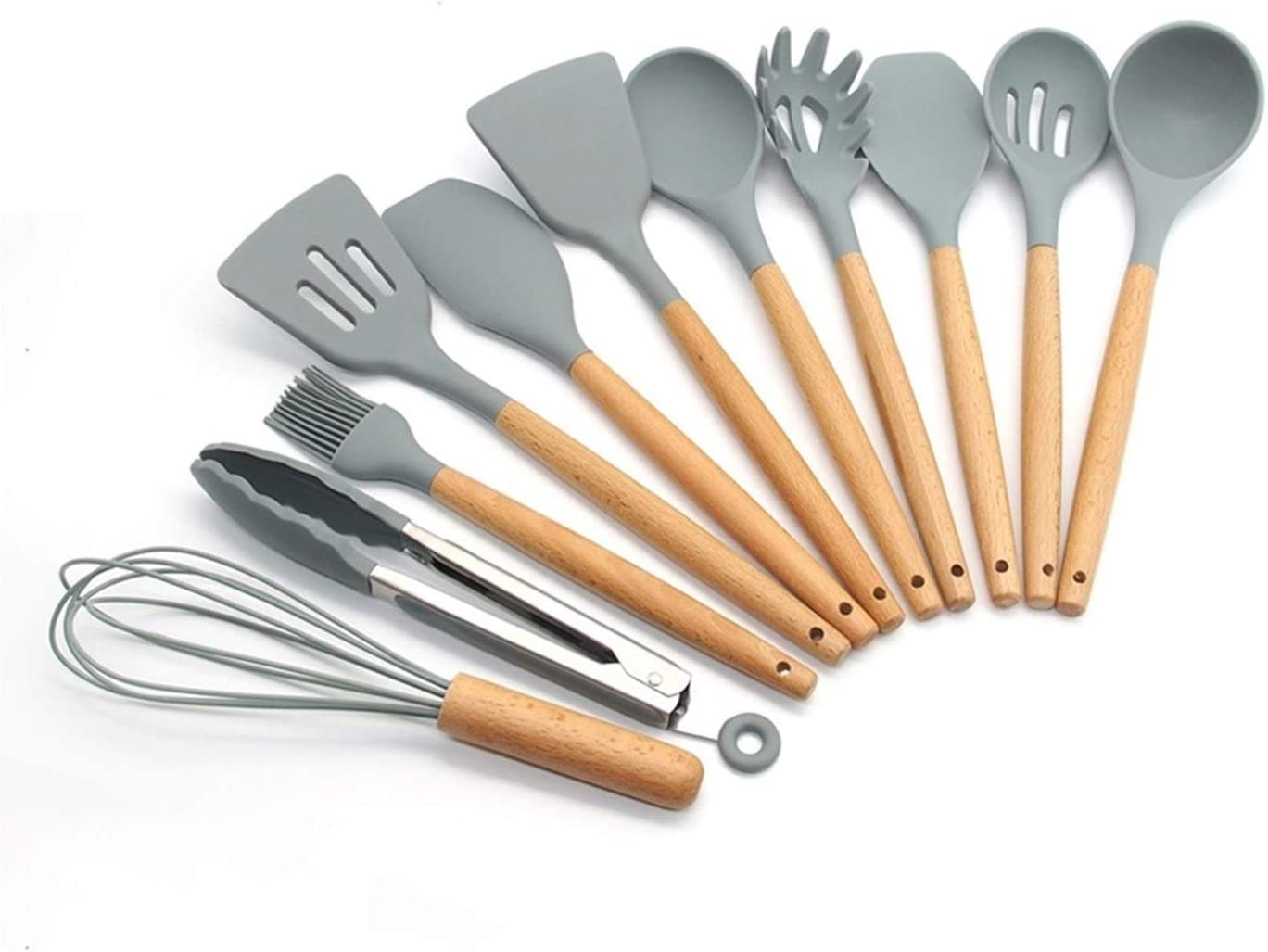 Regular discount YIBOZY Silicone Cooking Utensils 11 13Pcs Utensil 12 Oakland Mall Kitchen Set