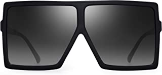 c3568eb78e JM Oversized Cuadradas Gafas de Sol Para Mujer Plano Top Diseñador Sombras  Protección UV