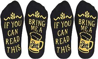 OOK, Si Puedes Leer Esto Calcetines Tráeme Calcetines de Vino Calcetines de Cerveza Novedad Divertida Diciendo Calcetines para Hombres y Mujeres