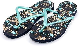 Dupe Turquoise Flip Flop Thong Design Slipper for Women