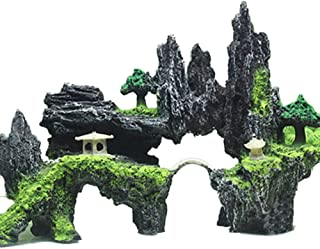 Sforza Fish Tank Decoration Aquarium Ornament Safe Non-Toxic Rockery Landscape Resin Tree Ornament Mountain View Decor