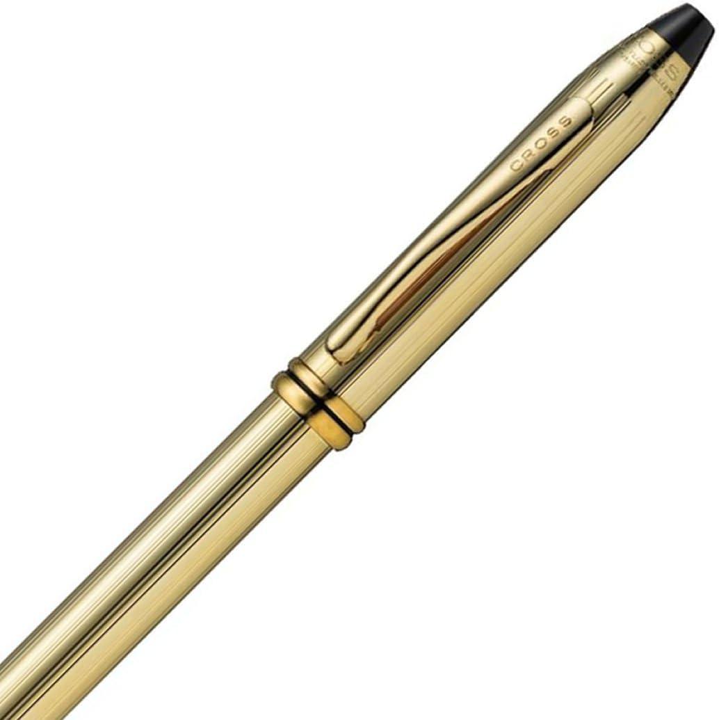 New #702 Cross Townsend 10 Karat Gold Filled//Rolled Ballpoint Pen