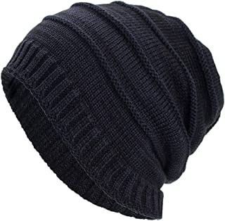 LENXH Unisex Knitted Caps Solid Color Autumn Winter Hats Fashion Simple Cotton Cap Casual Cloth Cap