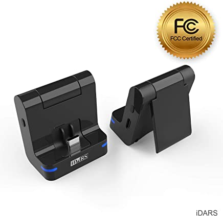 iDARS 3-in-1 Bluetooth Transmitter Audio Foldable Stand USB-C Fast Charging for Nintendo Switch to AirPods Bose Beats Jaybird JBL Sony Audio-Technica Pioneer Sennheiser Plantronics Marshall
