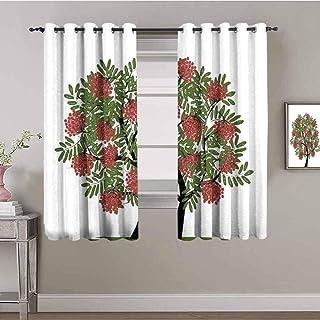 LucaSng Cortinas de Opacas - Abstracto Planta árbol Fruta - 160x160 cm - para Sala Cuarto Comedor Salon Cocina Habitación ...