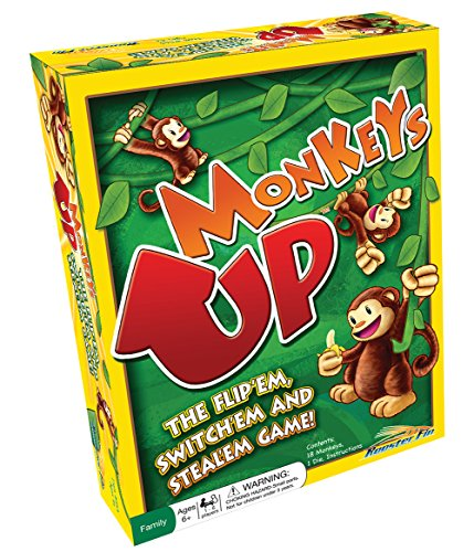 RoosterFin Monkeys Up Family Game - Switch, Steal, and Flip to Win