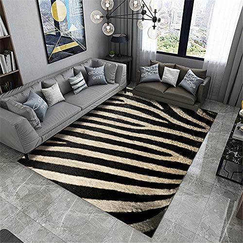 alfombras Dormitorio,Alfombra Negra, Alfombra insonorizada con Polvo sin Polvo, alfonbras de dormitorios -Negro_200x300cm