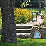 Miniature Fairy Doors for Trees Decor, Outdoor Fairies Sleeping Door Tree Statues Fairy Garden Accessories for Fairy Tale Education Learning Toy Pretend Playset 3.94x2.56in