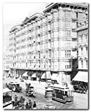 Wall Decor Vintage San Francisco Palace Hotel 1889 Old City Black And White Art Print Poster (16x20)