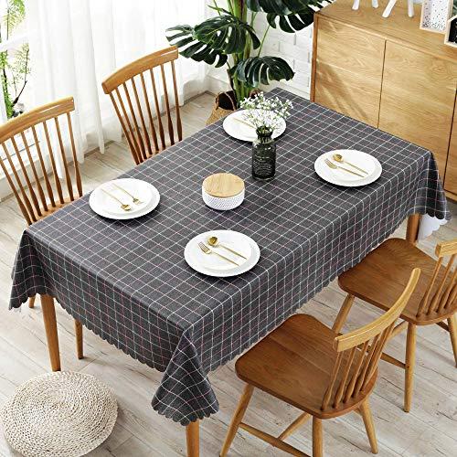 Unbekannt Rechteck Tischdecke Jacquard Tischdecke mit Wellenmuster Tischdecken Parteien Marineblau 138X220CM