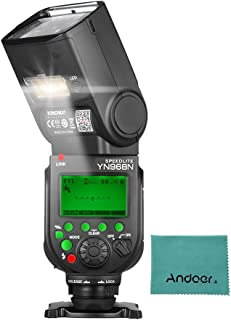 YONGNUO YN968N ワイヤレス TTL フラッシュ スピードライト1/8000 HSS 内蔵LEDライト 5600K YN622N YN560ワイヤレスシステム付き ニコン デジタル一眼レフカメラ用