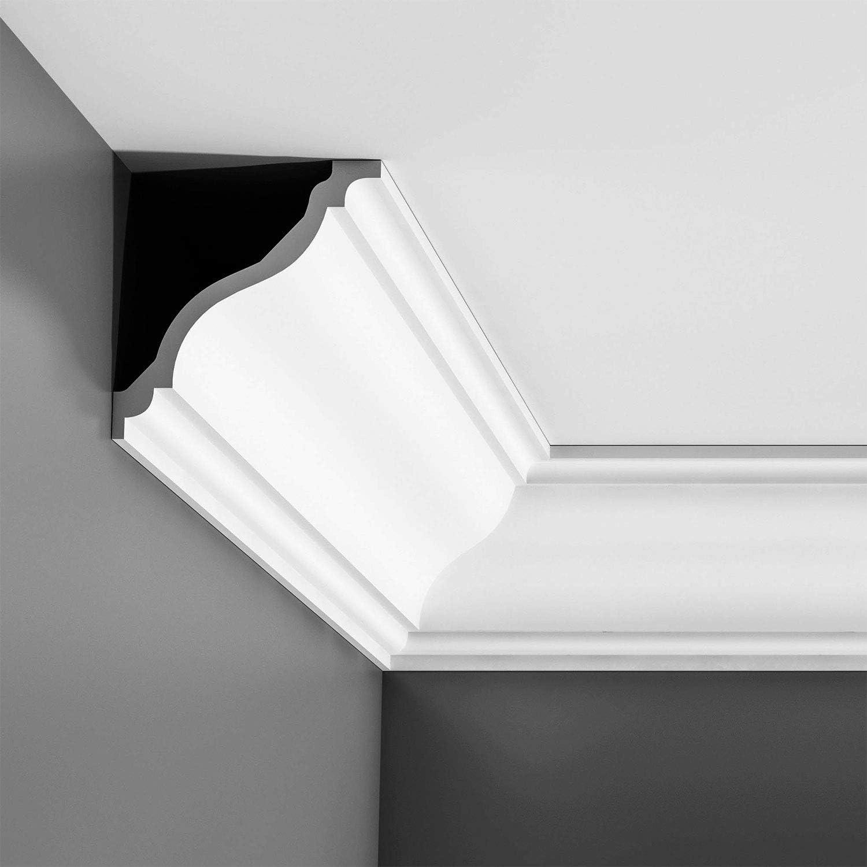 4in Sample Piece High Density Polyurethane Crown Moulding Primed White C333 Orac Decor