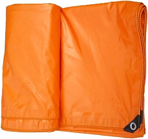 QING MEI-Bache Orange Grand Camion Toile Tente de Jardinage Toit Anti-Mites Isolant spécial Anti-Gel Tissu PVC bache 100% imperméable à l'eau Prougeection UV A+ (Taille   4 x 5 Meters)