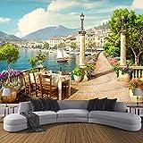 3D Wallpaper Custom Large Non Woven Mural Decoration Garden Balcony Lake Scenery-400280 Modern Wall Mural Landscape Picture Decor