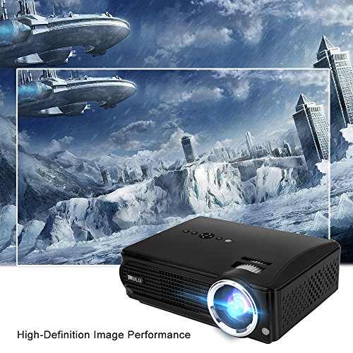 iRULU P4 HD LED Video Projector Multimedia Home Cinema Theater Support 1080P Big Screen for TV Laptop Game Smartphone