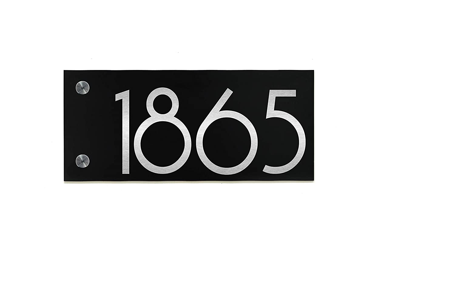 Modern House Sign Small with Black Now free shipping Fib ACP and Silver Genuine Free Shipping Aluminum
