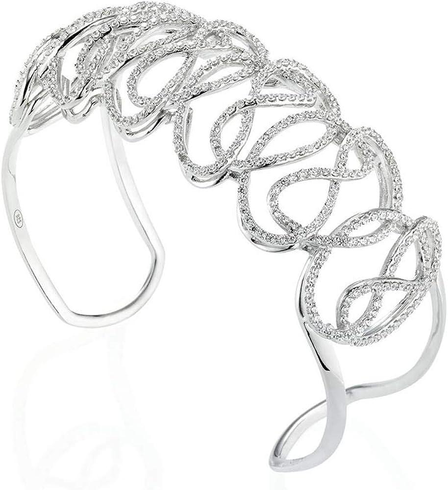 Morellato,bracciale , collezione 1930 michelle hunziker,argento 925,pietre preziose e cristalli bianchi SAHA05