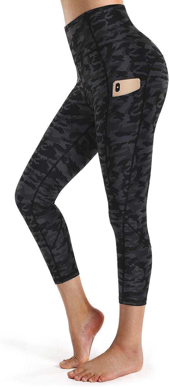 STYLEWORD Pantalon de yoga pour femme avec poches taille haute