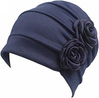 Ruffle Chemo Turban Headband Scarf Beanie Cap Hat for Cancer Patient