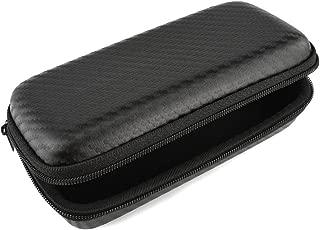 Geekria EJB18 高品质头戴式耳机收纳盒, 加韧加厚PU皮革防水耐磨,高密度加厚外壳抗压防摔,柔软天鹅绒内里防震防刮,耳机收纳包适用于SENNHEISER/森海塞尔 PX100 PX200 PX80 PXC250等可折叠耳机 (草席纹)