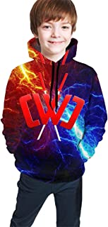 Thornegham Youth Chad Wild Clay CMC Gamer Flame 3D Print Hoodie Sweatshirts for Kids