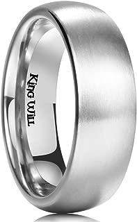 King Will Basic 3MM/5MM/7MM/9MM Titanium Ring Brushed/Matte Comfort Fit Wedding Band for Men