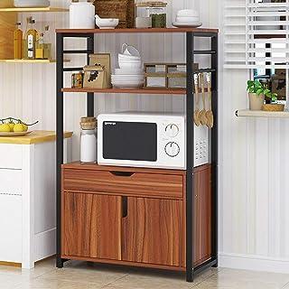 KCCCC Armoire de Cuisine Organisateur 3-Tier Shelf Four Stand avec Rack de Rangement Cuisine Baker avec tiroirs Étagère de...