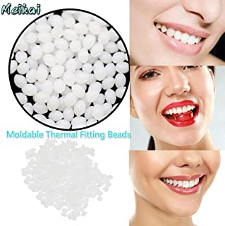 MeiKai Temporary Tooth Repair Kit for Snap On Instant and Confident Smile Denture Adhesive Fake Teeth Cosmetic Braces Veneer-Best Moldable Thermal Fitting Beads