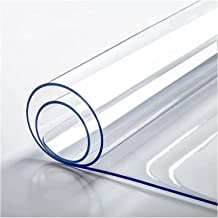 Transparant tafelkleed, doorzichtig tafelkleed, tafelblad plastic, tafelbeschermfolie pvc-plastic, wasbaar zacht tafelklee...