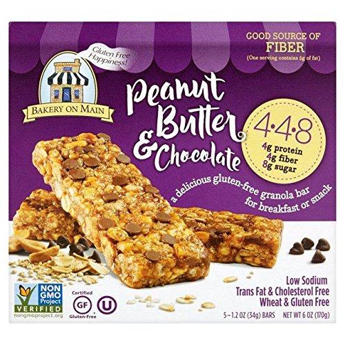 Bakery On Main Gluten Free Chocolate Peanut Butter Granola Bar - 5 per pack (0.37lbs)