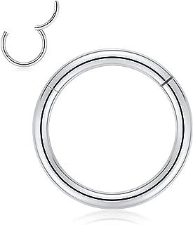 Kzslive - Orecchini a cerchio in titanio 8G/10G/12G/14G/16G/18G/20G, con segmento cardinato, per cartilagine, elice, labbr...