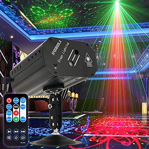 Party Lichter Disco Lichter DJ Lichter, GOOLIGHT Sound Activated Strobe Light Projektor Bühnenlichteffekte mit Fernbedienung für Home Room Dance Parties Geburtstags Bar KTV Karaoke