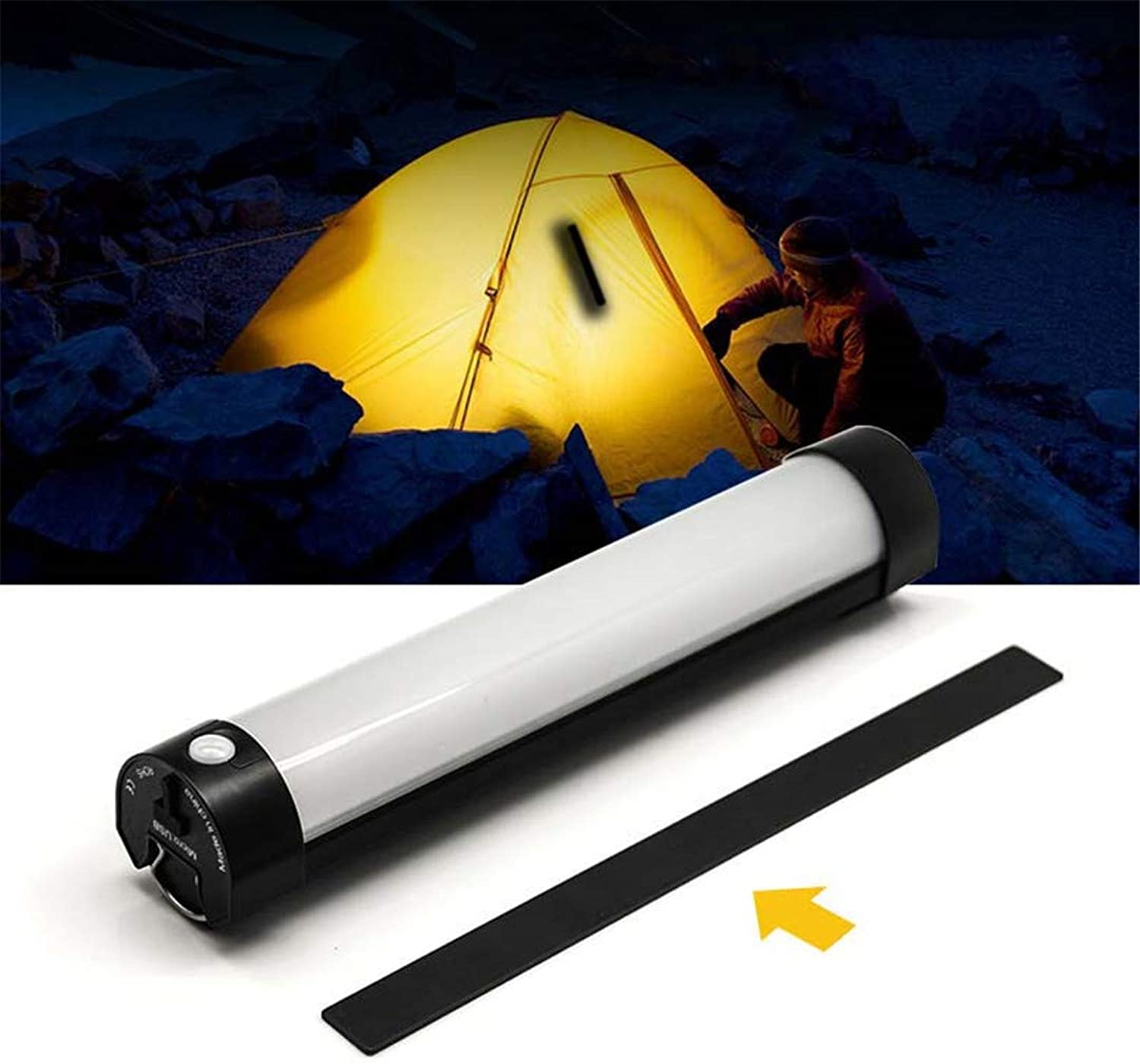 Outdoor Portable Remote Control Camping Light Fishing Lamp Magnetic SOS Emergency Camping Led Light Rechargeable