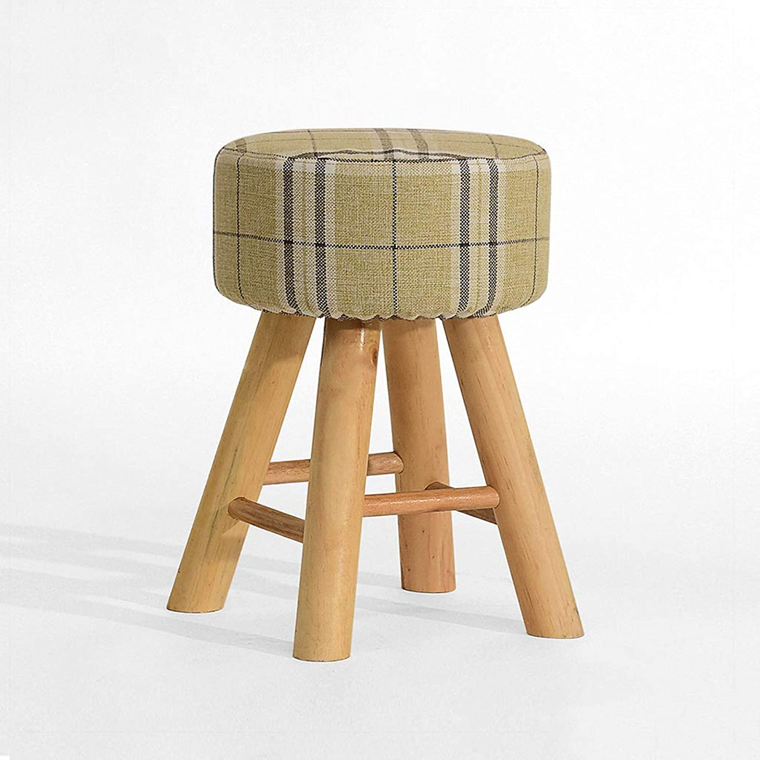 Small Stool, Solid Wood Material Fashion Creative, Strong and Stable, Round Stool Dressing Stool